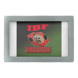 Correa del boxeo del campeonato de IBF con el fond Hebillas Cinturon Rectangulares