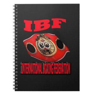 Correa del boxeo del campeonato de IBF con el fond Libro De Apuntes
