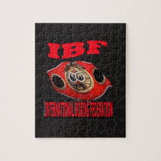 Correa del boxeo del campeonato de IBF con el fond Puzzle