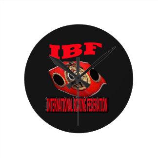 Correa del boxeo del campeonato de IBF con el fond Reloj