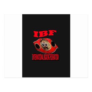 Correa del boxeo del campeonato de IBF con el Tarjetas Postales