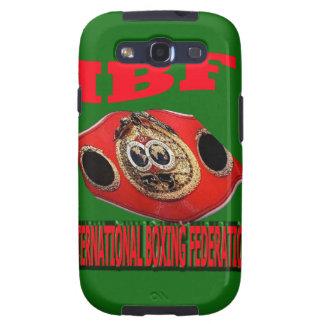 Correa del boxeo del campeonato de IBF con verde d Samsung Galaxy S3 Funda