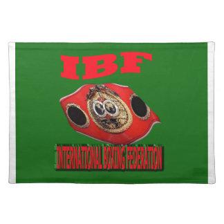 Correa del boxeo del campeonato de IBF con verde d Manteles Individuales