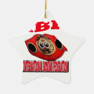 Correa del boxeo del campeonato de IBF Adorno De Navidad