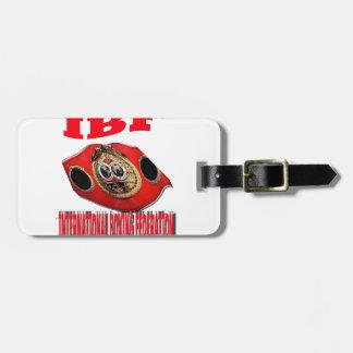 Correa del boxeo del campeonato de IBF Etiqueta Para Maleta