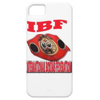 Correa del boxeo del campeonato de IBF iPhone 5 Case-Mate Carcasas
