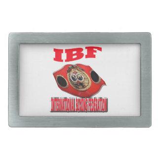 Correa del boxeo del campeonato de IBF Hebillas Cinturon Rectangulares