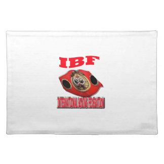 Correa del boxeo del campeonato de IBF Mantel
