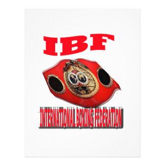 Correa del boxeo del campeonato de IBF Membrete Personalizado
