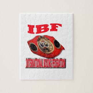 Correa del boxeo del campeonato de IBF Puzzle Con Fotos