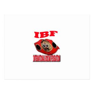 Correa del boxeo del campeonato de IBF Tarjetas Postales