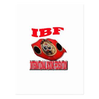 Correa del boxeo del campeonato de IBF Tarjeta Postal