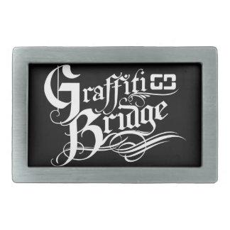 Correa del puente de la pintada hebilla cinturon rectangular
