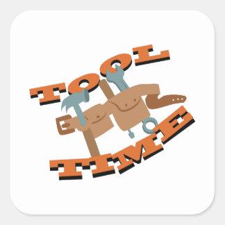 Correa del tiempo de la herramienta pegatina cuadrada