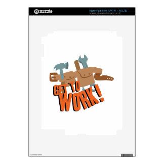 Correa del trabajo iPad 3 pegatinas skins