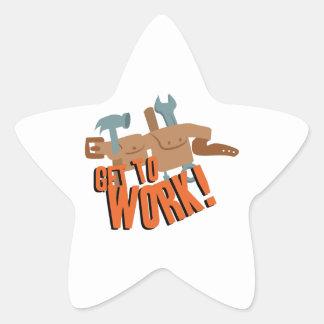 Correa del trabajo pegatina en forma de estrella