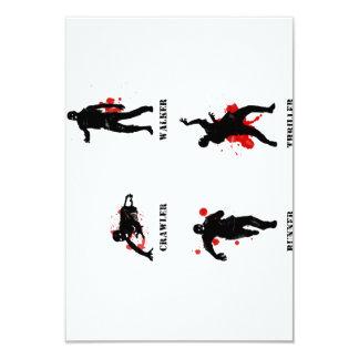 correa eslabonada del caminante del zombi invitación 8,9 x 12,7 cm