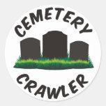 Correa eslabonada del cementerio pegatina redonda