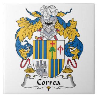 Correa Family Crest Ceramic Tile