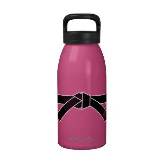 Correa negra, 黒帯 de los artes marciales, 武道 botellas de agua reutilizables