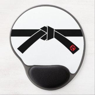 Correa negra, 黒帯 de los artes marciales, 武道 alfombrilla de raton con gel