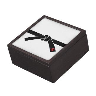Correa negra, 黒帯 de los artes marciales, 武道 caja de joyas de calidad
