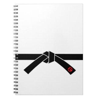 Correa negra, 黒帯 de los artes marciales, 武道 libro de apuntes
