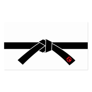 Correa negra, 黒帯 de los artes marciales, 武道 tarjeta de visita