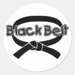 Correa negra 2 pegatina redonda