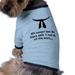 Correa negra camisetas de perro