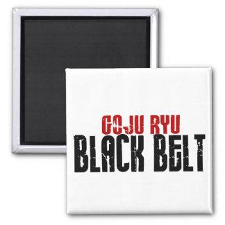 Correa negra de Goju Ryu Imán Cuadrado