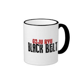 Correa negra de Goju Ryu Tazas De Café