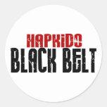Correa negra de Hapkido Etiqueta Redonda