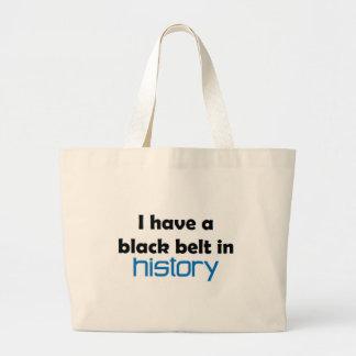 Correa negra de la historia bolsa tela grande