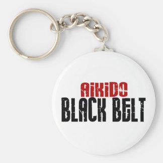 Correa negra del Aikido Llavero Personalizado