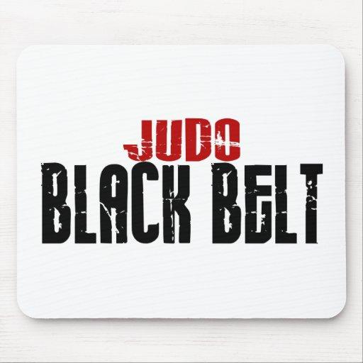 Correa negra del judo tapete de raton