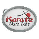 correa negra del karate hebilla cinturon oval