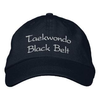 Correa negra del Taekwondo - gorra de béisbol de l