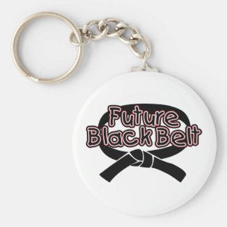 Correa negra futura roja llaveros personalizados