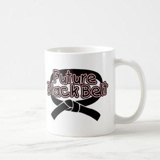 Correa negra futura (roja) tazas de café