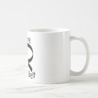 Correa negra futura tazas de café