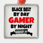 Correa negra por videojugador del día por noche