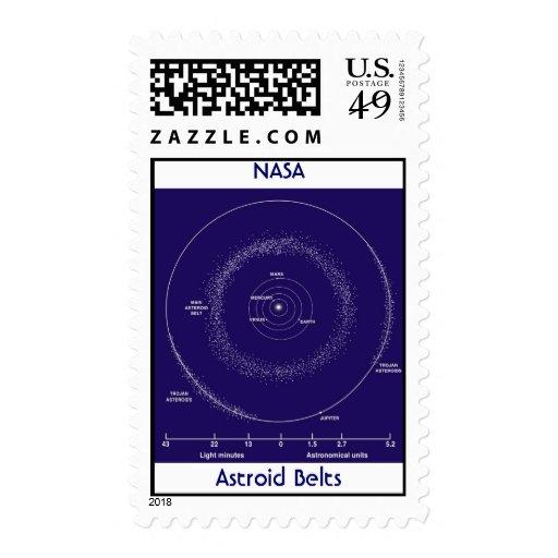 Correas astroides, NASA Timbres Postales