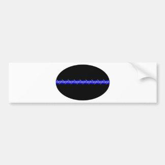 Correcciones de púas de Blue Line Etiqueta De Parachoque