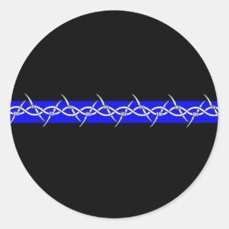 Correcciones de púas de Blue Line Pegatina Redonda
