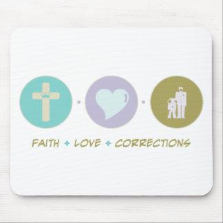 Correcciones del amor de la fe alfombrilla de ratones