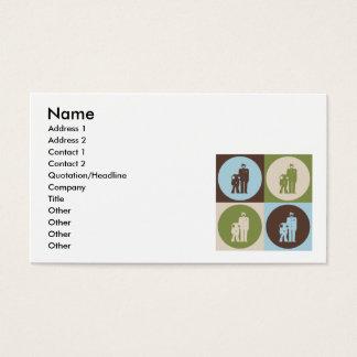 Correcciones del arte pop tarjetas de visita