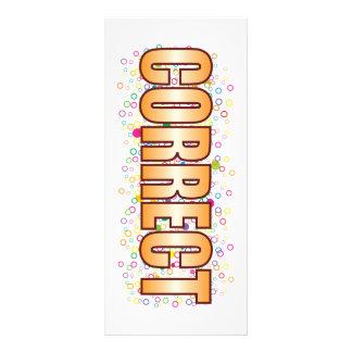Correct Bubble Tag Full Color Rack Card