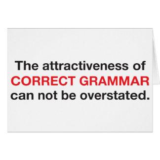 Correct Grammar is attractive! Cards