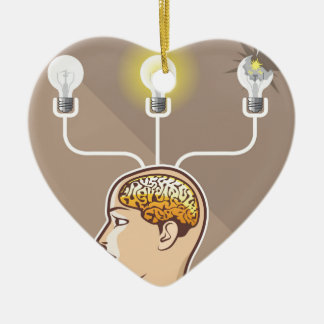 Correct Idea Choice Vector Mind Ceramic Ornament